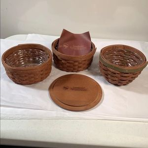 Longaberger Baskets In beautiful condition
